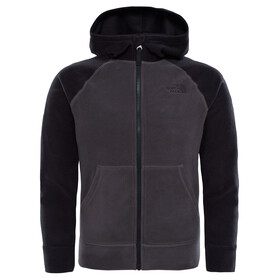 The North Face Glacier Full Zip Hoodie Boys Graphite Grey/TNF Black